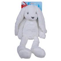 knuffel Konijn junior 37 cm pluche wit
