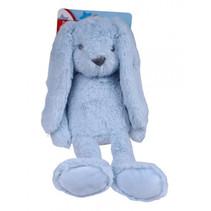 knuffel Konijn junior 30 cm pluche blauw