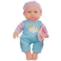 babypop met geluid meisjes 25 cm blauw/roze