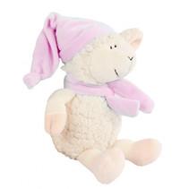 knuffel schaap 23 x 16 cm pluche beige/roze