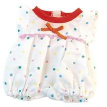 poppenkleding pyjama gestipt wit