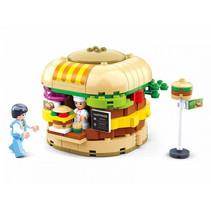 hamburgerkraam junior 23 cm 381-delig