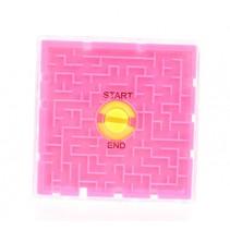 hersenkraker labyrinth puzzel 6 cm roze