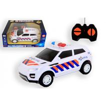 politieauto RC bestuurbaar 20 x 13 cm wit