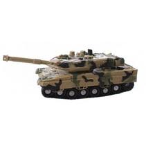 militaire tank met licht en geluid 24 cm bruin