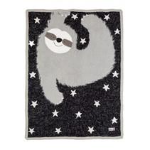 deken fluffy junior 140 cm katoen zwart/grijs