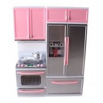 tienerpopkeuken met licht en geluid 30 cm roze