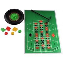 roulette-set 15 cm groen/zwart 29-delig