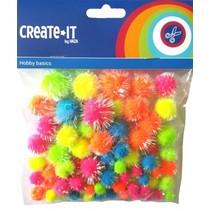 knutselset Create it - Glitter Neon mix 75 stuks