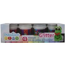 Klei Set Glitter 4-delig 55 gram