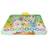 interactieve speelmat Dieren 90 x 70 cm