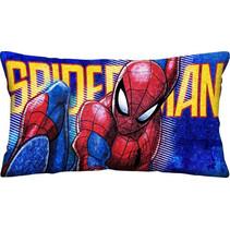 kussen Spider-Man jongens 70 x 35 cm polyester blauw/rood