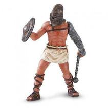 speelfiguur Gladiator junior 5 cm bruin/grijs