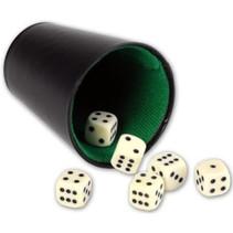 dobbelspel zwart/wit 7-delig