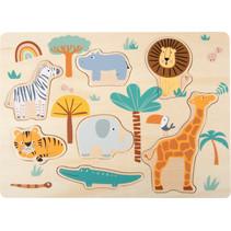 vormenpuzzel Safari 21,5 x 30 cm hout 7-delig