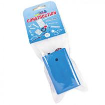 batterijhouder met schakelaar 3 x AA blauw
