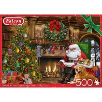 legpuzzel Kerstman 35 x 49 cm karton groen/rood 500 stuks