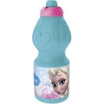 Frozen Floral drinkfles 400 ml lichtblauw/roze
