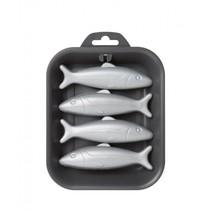 dienblad met vier visjes