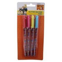 glitterpennen Minions meisjes 15 cm 4 stuks
