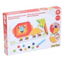 mozaïekpuzzel 4-in-1 junior rood 248-delig