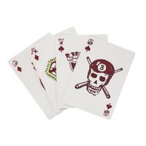 speelkaarten tattoo 5 x 7,5 cm karton rood 54-delig