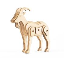 3D-puzzel Geit 11 x 15 cm hout bruin