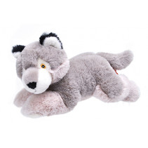 mini knuffelwolf Ekokins 58 x 38 cm pluche grijs