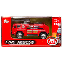 brandweervoertuig bluswagen 7,5 cm staal rood