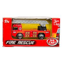 brandweervoertuig ladderwagen 7,5 cm staal rood