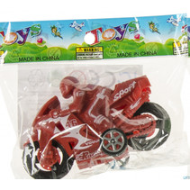 speelgoedmotor junior 8,5 cm rood