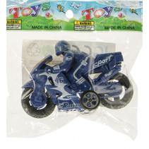 speelgoedmotor junior 8,5 cm blauw