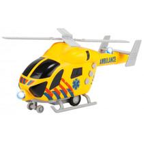 hulphelikopter Rescue junior 22,5 x 10 cm geel