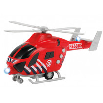 hulphelikopter Rescue junior 22,5 x 10 cm rood