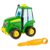 tractor Buddy Johnny junior 12 cm groen/geel 8-delig