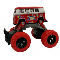 monstertruck pull-back 11,5 cm staal rood