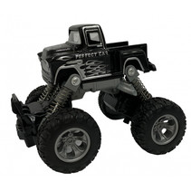 monstertruck pull-back 11,5 cm staal zwart