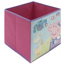 opbergbox Peppa Pig 30 liter polypropyleen roze