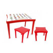 tafelset Easy Learning junior 57 x 41,5 cm rood 3-delig