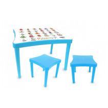 tafelset Easy Learning junior 57 x 41,5 cm blauw 3-delig