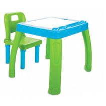 tafelset Lets Study 69,5 x 56,5 cm blauw/groen 2-delig
