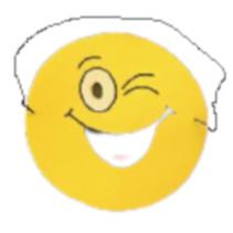 masker emoties junior 17 cm papier geel