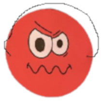 masker emoties junior 17 cm papier rood