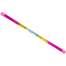 glitterstaf regenboog meisjes 45 cm