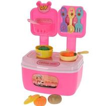speelset keuken junior roze 20-delig