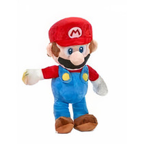 knuffel Super Mario - Mario 26 cm pluche rood/blauw