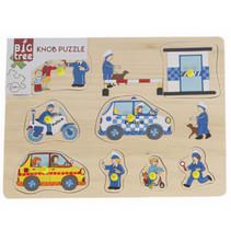vormenpuzzel Politie junior hout 8 stukjes