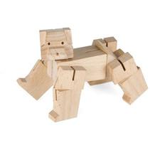 speelfiguur beer junior 5,5 x 5,5 cm hout naturel