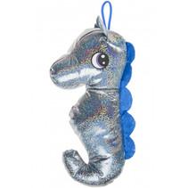 knuffel zeepaard junior 30 cm pluche blauw