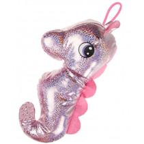 knuffel zeepaard junior 30 cm pluche roze